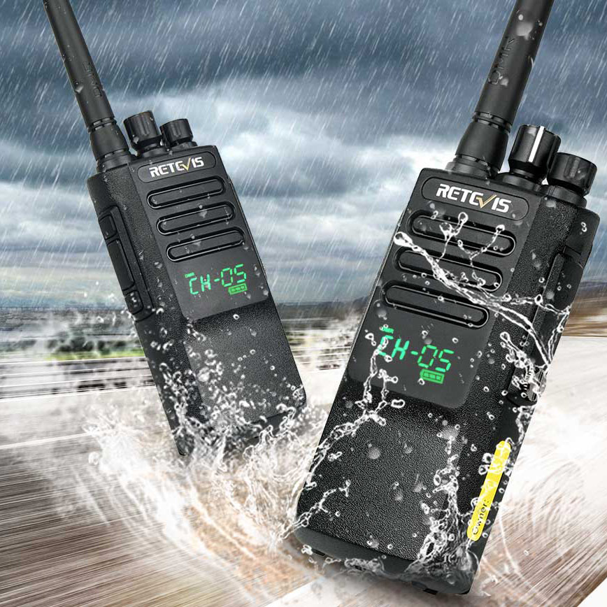 2pcs High Power DMR Radio Digital IP67 Waterproof Walkie Talkie Retevis RT50 Display UHF VOX Portable 2 Way Radio  Walkie-Talkie