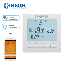 BEOK BOT-313WIFI Gas Boiler Heating Thermostat Smart Wifi Temperature Regulator for Boilers Work with Alexa Google Home