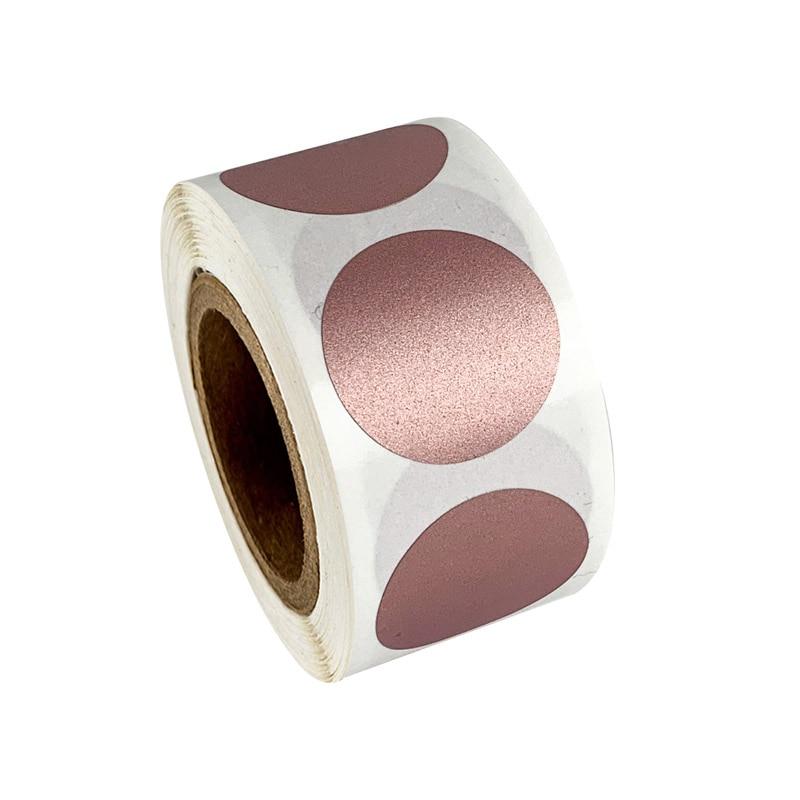 50 шт., круглые Стикеры с защитой от царапин из розового золота, 1 дюйм, этикетки с защитой от царапин для DIY, ручная лента для этикеток, ручная р...