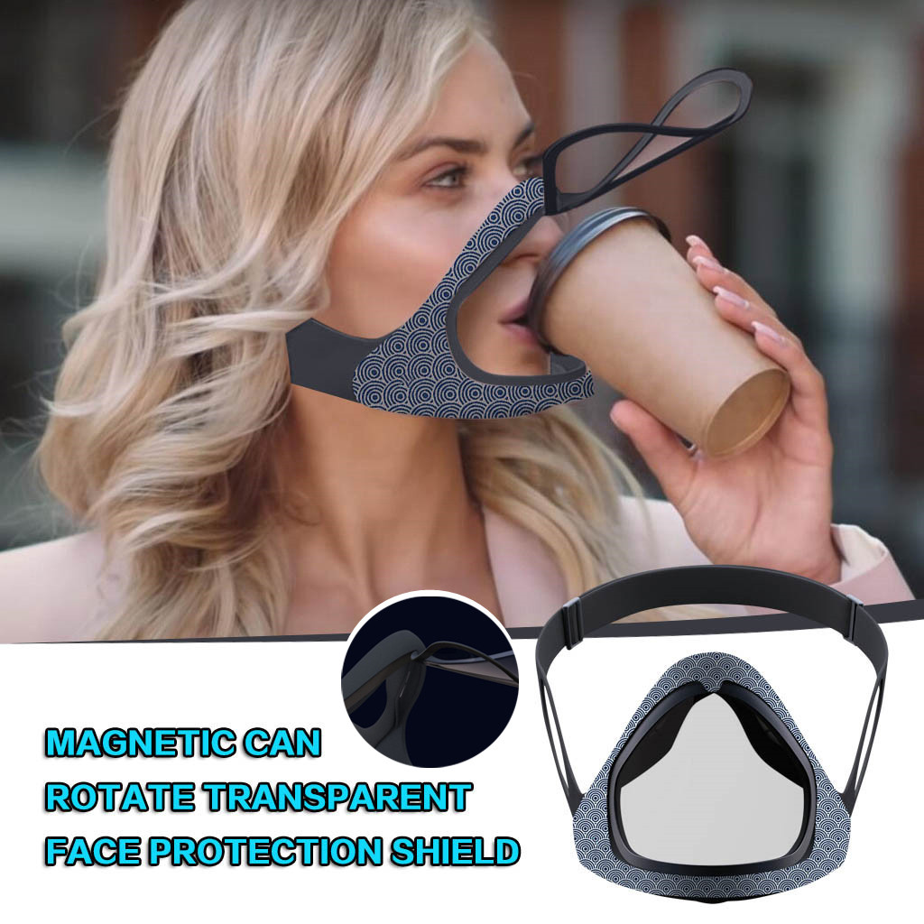 Open the smart magnetic mask, double-layer anti-fog outdoor sports, convenient riding mask, open the smart magnetic film with M4