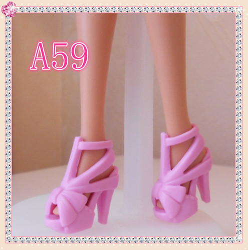 1/6 Doll Shoes Mix style High Heels Sandals Boots Colorful Assorted Shoes Accessories For Barbie Doll Baby Xmas DIY Toy 17