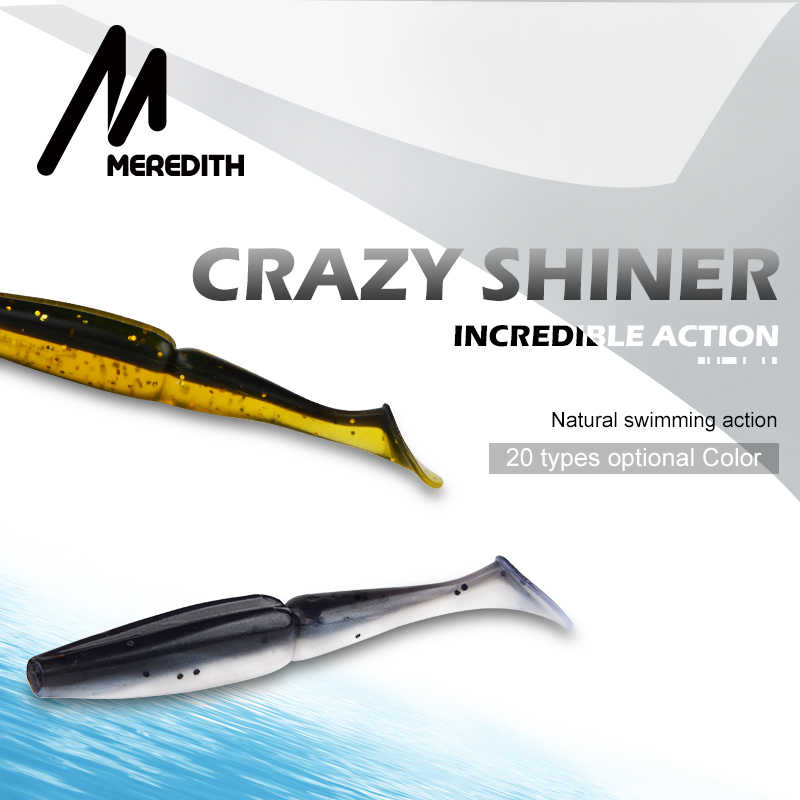 MEREDITHตกปลาLure Swimbait Crazy Shiner 70 มม.90 มม.110 มม.130 มม.Lure SHAD PIKE Zander perch Troute Pesca Acesorios