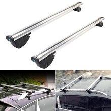 Support universel de toit pour voiture, 2 pièces, barre croisée, Support de bagage avec serrure antivol, Support de toit pour bicyclette, 120cm, 130cm