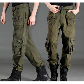Fashion Plus Size Unisex Cargo Pants Casual Jogger Pants Mens Military Army Green Pants Camouflage Sweatpants Tactical Pants фото