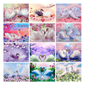 Алмазная 5D картина «Лебедь» LZAIQIZG, Набор для творчества, полная выкладка, мозаика, распродажа картин с животными стразы, подарок ручной работ...