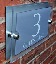 Modern Stylish House Sign Plaque Door Number Street Name Plate Glass Effect Acrylic House Name custom house number acrylic house sign with house number