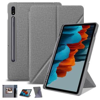 Funda para tableta Samsung Galaxy Tab S7 Plus de 12,4 pulgadas, funda con soporte para Samsung Galaxy Tab S7 SM-T870/T875, con portalápices