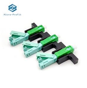 Image 1 - Conector rápido FTTH de fibra óptica integrado, fibra UPC SC, montaje de campo, conector óptico de un solo modo, 53MM