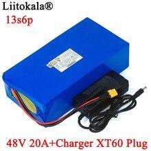 LiitoKala 48V 20Ah 13s6p Lithium Pin 48V 20AH 2000W Xe đạp điện pin Xây Dựng trong 50A BMS XT60 cắm + Bộ Sạc 54.6V
