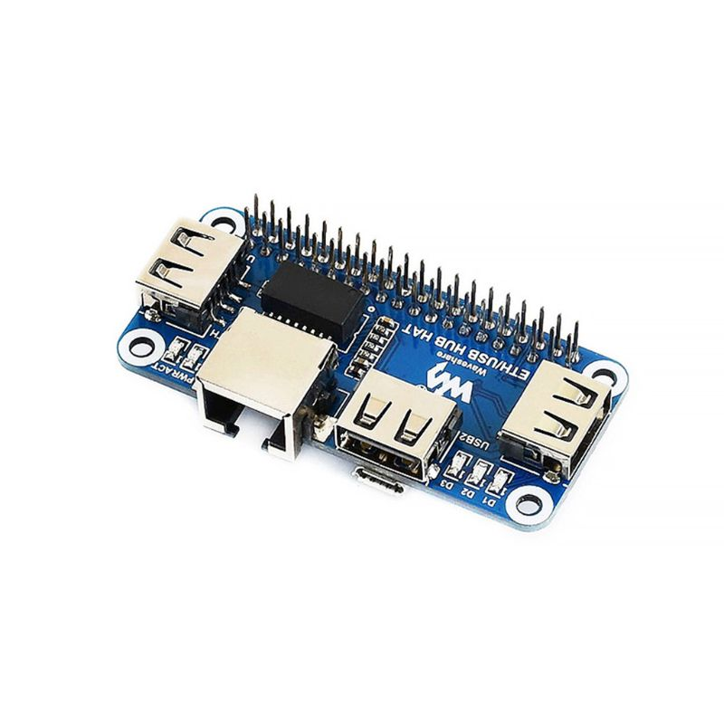For Raspberry Pi 4B/Zero W USB To Ethernet RJ45 Net-work Port USB HUB Hub Splitter Expansion Board Module