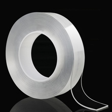 купить Hot 1/5M Double Sided Tape Nano Transparent No Trace Acrylic Magic Tape Reuse Waterproof 3m Adhesive Tape Cleanable Home дешево