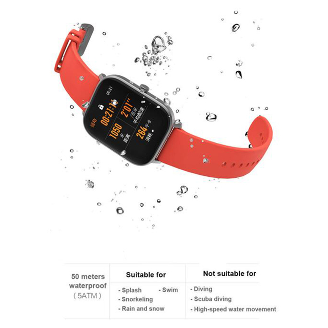New Amazfit GTS Global Version Smart Watch Huami Outdoor GPS Positioning Running Heart Rate  5ATM Waterproof Smartwatch 5