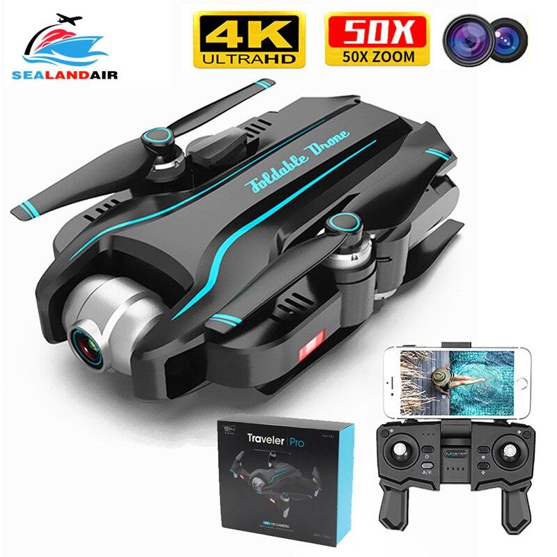 Drone WIFI 4K HD avec caméra grand Angle réglable FPV en temps réel antenne vidéo pliable Quadrocopter geste Photo RC Dron jouets