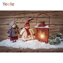 Yeele Christmas Photocall Snowman Lantern Wood Photography Backdrops Personalized Photographic Backgrounds For Photo Studio kate gray wood backgrounds for photo studio christmas with snowman scenic photography backdrops children gingerbread background