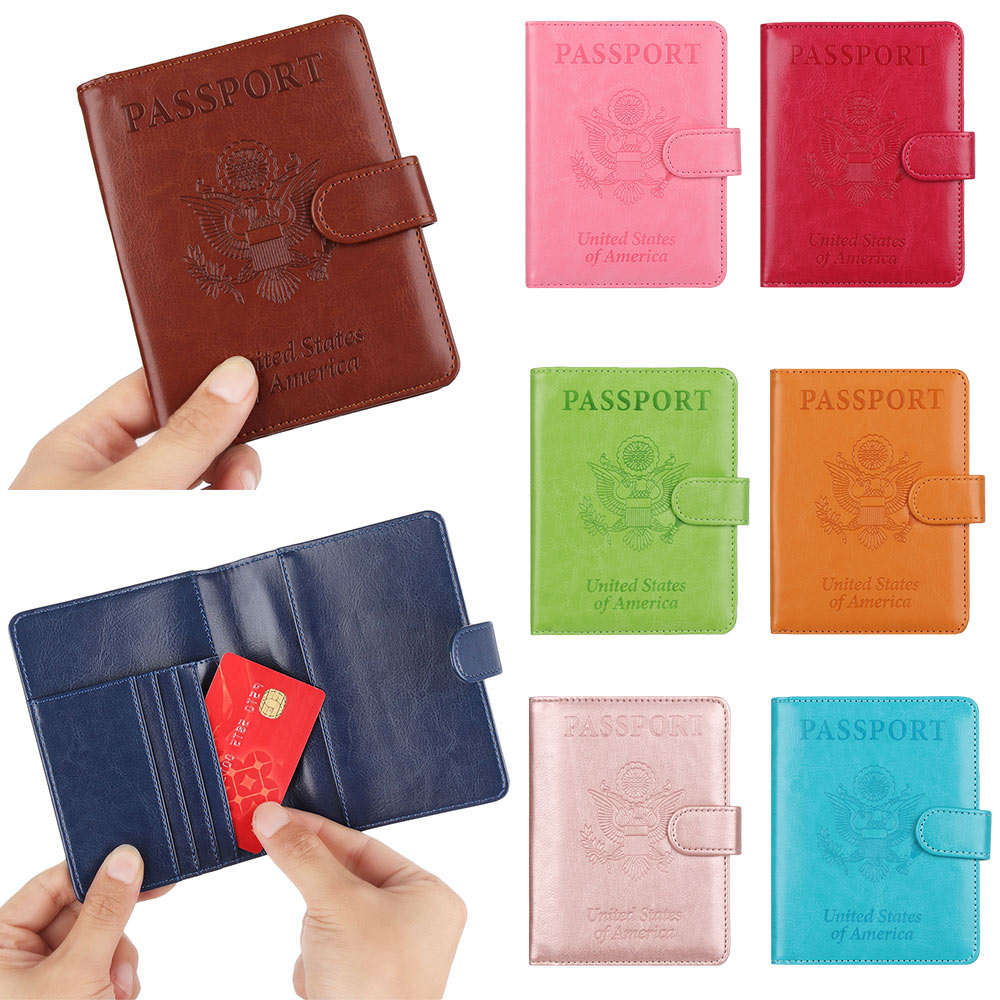 New High Quality Passport Cover For Men Women Travel Passport Case US Travel Document Cover Ticket Pocket Passport Holders