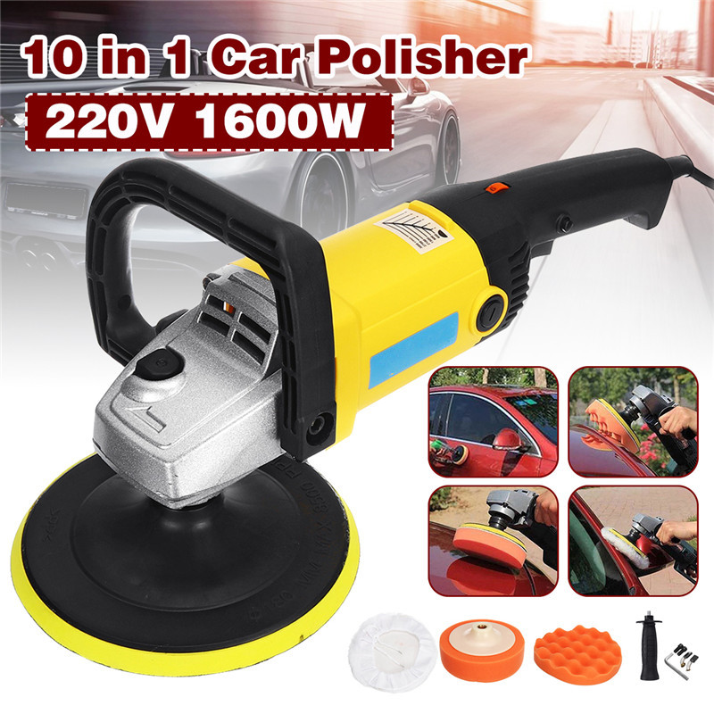Car Polisher 1600W Variable Speed 3000rpm 180mm Car Paint Care Tool Polishing Machine Sander 220V M14 Electric Floor Polisher|Polishers| |  - title=