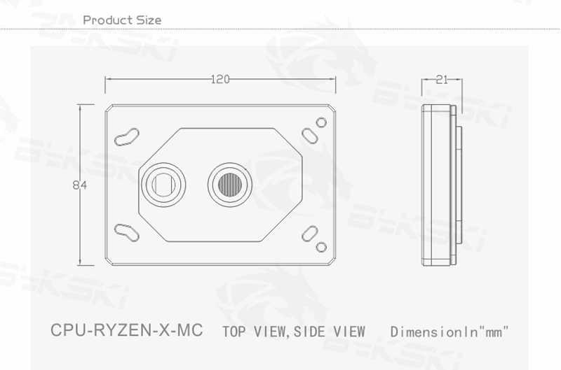 Bykski สำหรับ RYZEN3000 RyzenAM3/AM3 +/AM4 1950X TR4 X399 X570 CPU Water BLOCK พัดลมระบายความร้อนหม้อน้ำทองแดง water Cooler Cooling