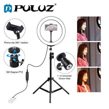 PULUZ, Led, fotografía, anillo de trípode, luz para Selfie para teléfono, luz de Maquiagem Profissional Completa, Youtube, iluminación de fotografía y vídeo