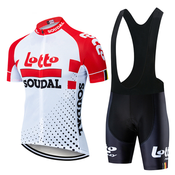Conjunto de maillot de ciclismo profesional de manga corta para hombre, ropa...