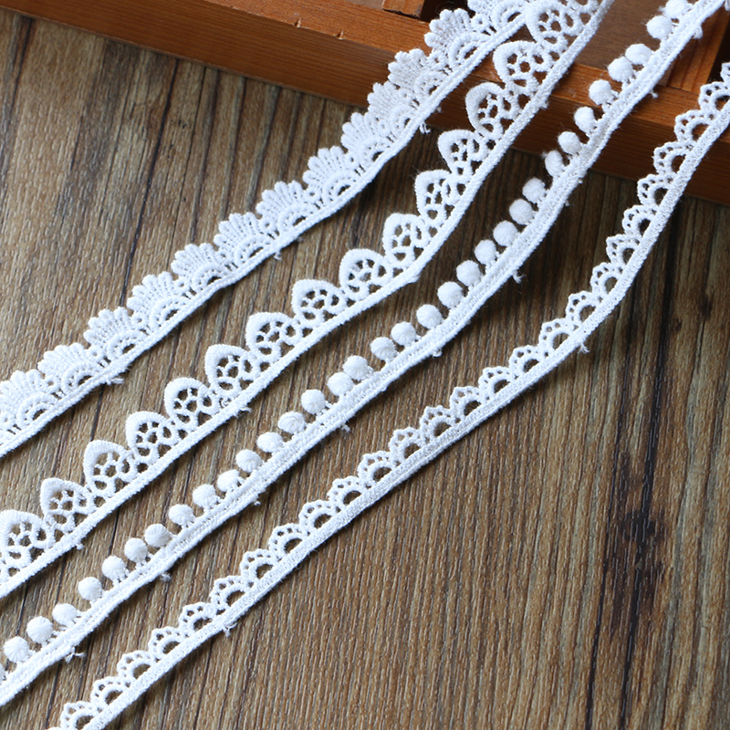 5 yards Cotton lace trim curtains clothing Sewing decoration accessories Crafts