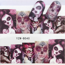 Sticker Halloween Manicure-Decor Diy-Slider Water-Nail-Decal Watermark And for 1pcs