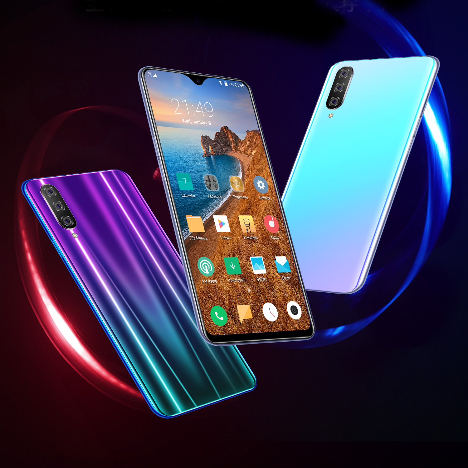 Image 4 - CHAOAI M9 Smartphone 6GB 128GB Global Version Smart Cell Phone 6.3 inch Water Drop Screen Dual Sim 3G Mobile-in Cellphones from Cellphones & Telecommunications