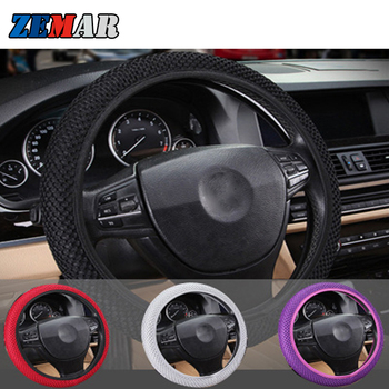 Car Steering Wheel Cover Protector Skidproof for BMW E46 E90 E60 E39 E36 F30 F10 F20 X5 E53 G30 E91 F31 G20 E34 E30 Accessories image
