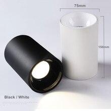 [DBF] Haute Surface Brillante Lumière Vers Le Bas avec Brillant Réflecteur 15W 20W LED Spots De Plafond Noir/Blanc Logement AC 110V 220V