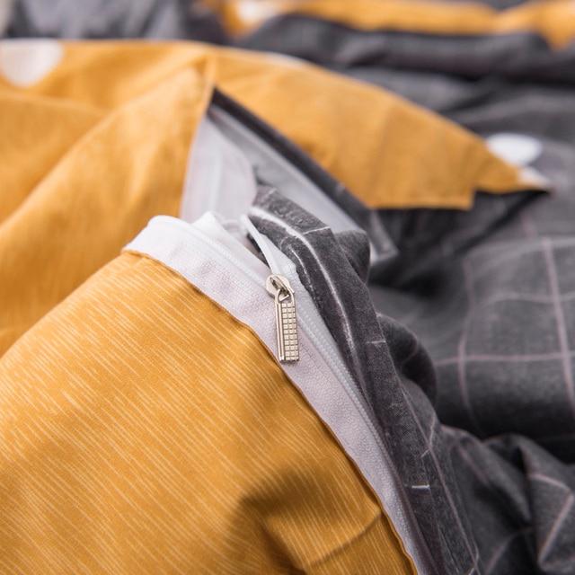 4pcs Geometric Bedding Set Cute Cartoon Kids Polyester Bedding Home Textile Flat Sheets Duvet Cover Pillow Cover