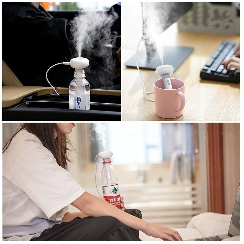 KBAYBO Air Humidifiers White Adjustable Height Donut USB Humidifier Portable Ultrasonic Mist Maker Aroma Diffuser for Home in Humidifiers from Home Appliances