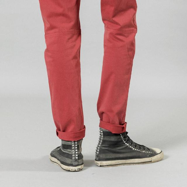 SIMWOOD 2020 new back pockets red pants men high quality little casual elastic trousers slim fit pant SI980557 37