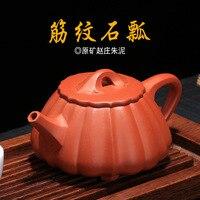 Juego de té Jinbao Shipiao Zisha pote mine Zhaozhuang Zhuni rib Jinzhou Shipiao hecho a mano por Wang jenxue Guogong