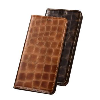 Genuine Leather Flip Case Card Pocket For Asus Zenfone 6Z ZS630KL/Zenfone 5Z ZS620KL Phone Bag Case Magnetic Holster Stand Cover