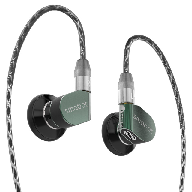 smabat st-10 Ear Hook Metal Headphones Hifi Wired Earbuds Stereo Headset Mmcx Replaceable Cable