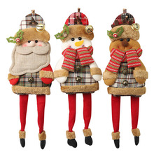 New Year Gift christmas decorations Christmas Santa Claus Snowman Reindeer Toy for Xmas Tree Hanging Ornament Home Decoration