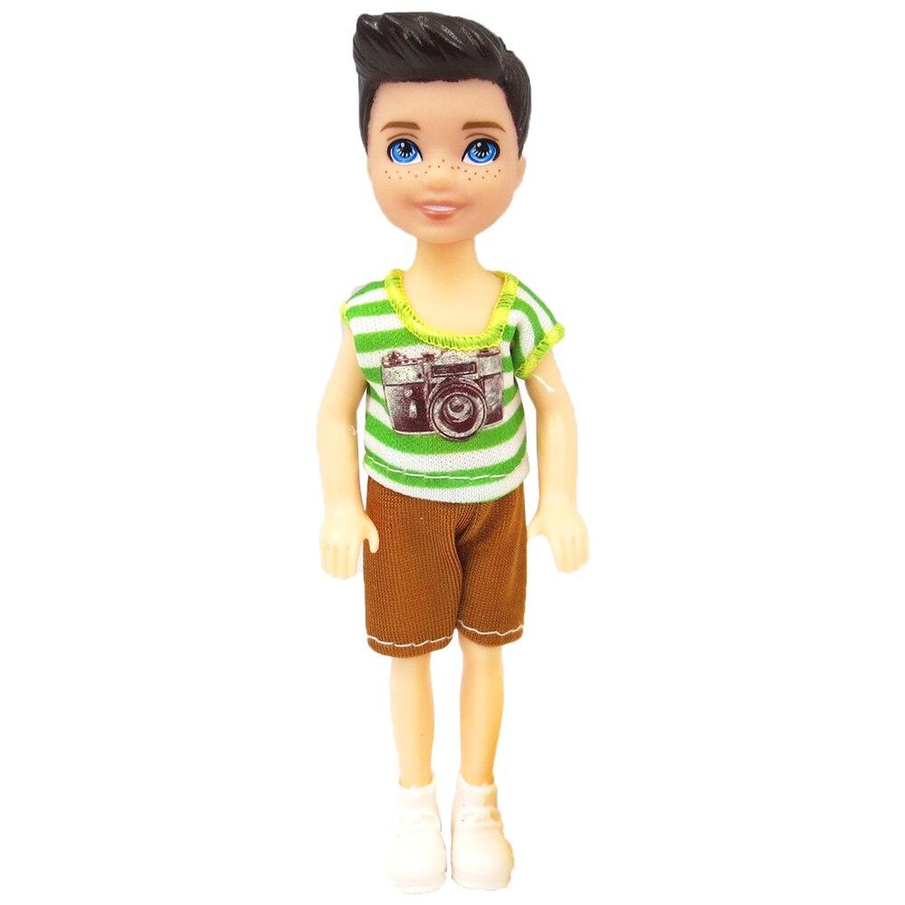 Nk 1 Set Anak Boneka 5 Bergerak Jointed Mini Boneka 14 Cm Boneka Lucu Sepatu Pakaian Untuk Kelly Pria Doll Hadiah Mainan Bayi 10d 1x Boneka Aliexpress