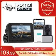 70mai A800S 4K Auto DVR Dual Vision GPS ADAS 70mai 4K Dash Cam A800S 24H Parkplatz Monitior vorne und Hinten Cam 140FOV
