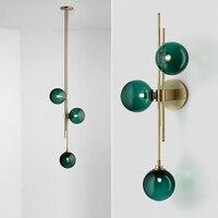 Modern Glass Ball Wall Lamp Nordic Sconce Wall Light Designer Light Fixture Bedroom/Coffee Bar /Villa Lampara