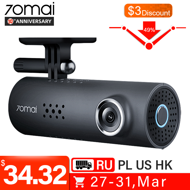 70mai Car DVR Dash-Cam Night-Vision Voice-Control Free-Wifi-Recorder 1S 1080HD English title=