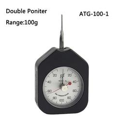 100g dial miernik napięcia analogowy tensiometro podwójne wskaźniki miernik napięcia ATG 100 2 w Przyrządy do pomiaru siły od Narzędzia na
