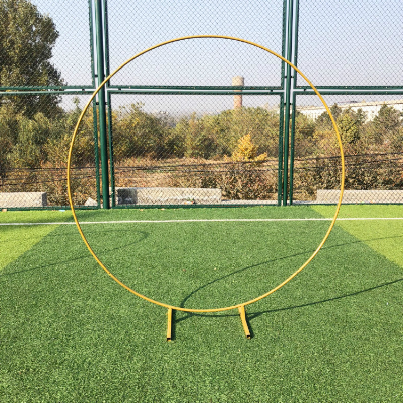 Wedding Arch Wrought Iron Round Ring Arch Artificial Flower Decor Birthday Party Celebration Wedding Props Flower Stand Shelf