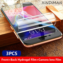 3pcs Front+Back+camera lensfilm for iphoneX XS XR hydrogel Film iphone6 6s 6plus 7 7plus 8 8plus screen protector XSMAX
