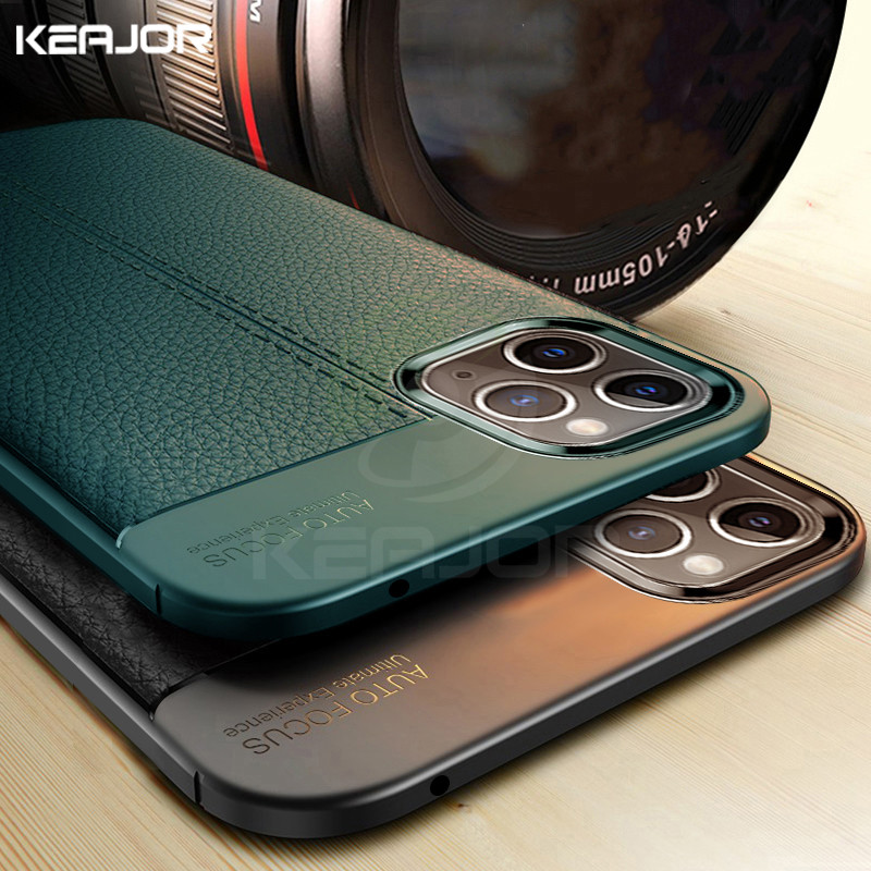 Soft Coque Case For Iphone 11 Pro Max Case Leather Silicone Bumper Shockproof Back Funda Cover For Iphone 11 11pro Max 2019 Case