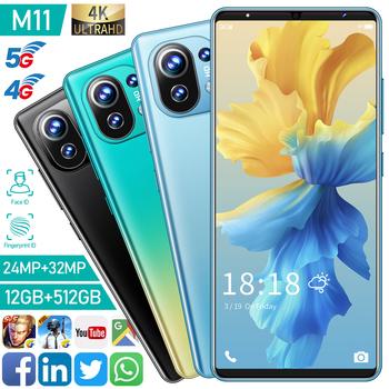 Gorący bubel wersja globalna M11 6 1 #8222 HD pełny wyświetlacz 1440*3200 rozpoznawanie twarzy bateria 5200Mah bateria litowo-jonowa telefon komórkowy tanie i dobre opinie XIAOMI CN (pochodzenie)
