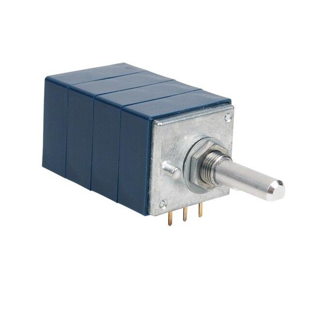 1 PCS Japan ALPS Blue SHELL RK27 Quad BALANCE Volume Potentiometer ครึ่งแกน 25mm10KA 50KA