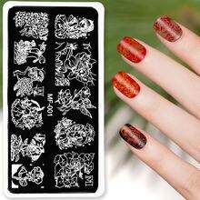 1 шт трафарет для стемпинга ногтей 6 х12 см