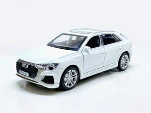 Image 5 - Audi Q8, à forte simulation 1:32, avec lumière sonore, en alliage, modèle de voiture, jouets pour enfants, cadeaux, livraison gratuite