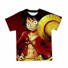 2021 nueva camiseta de manga corta 3D para hombre, camiseta divertida de cuello redondo con estampado de una pieza de Anime, rop