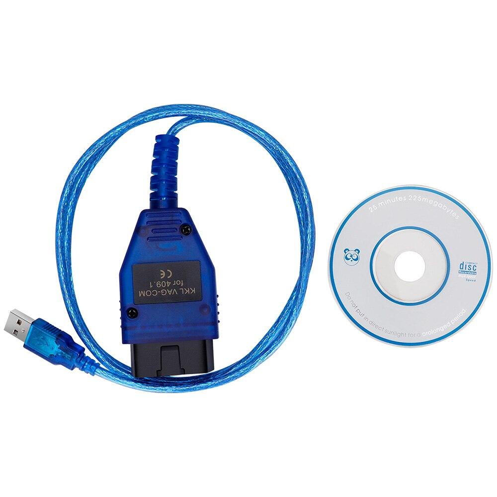 VAG409.1 Vag 409 VAG COM KKL409 OBD2 Interface USB Diagnostic Cable For Audi Volkswagen VW Skoda Seat Toledo Inca Scanner Tools|Code Readers & Scan Tools| |  - title=
