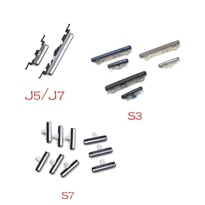 Power Button+Volume Side Button For Samsung S3 S7 Edge J5 J7 2016 J510 J710 / J5 J7 2018 J730 J530 Parts